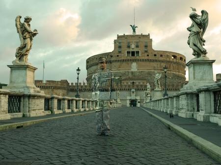 Ponte_Sant_Angelo- Roma-Liu_Bolin