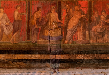 Villa_dei_Misteri_Pompei-Liu_Bolin